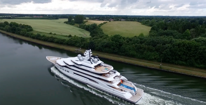 Drone footage: yacht Amadea. Photo credit AS-Flycam-Kiel.de:Andreas Schuster