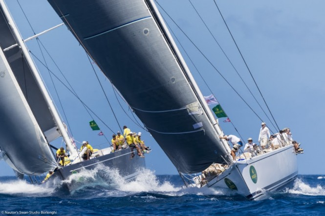Freya won against Plis in the Maxi Division of the Rolex Swan Cup Caribbean 2017