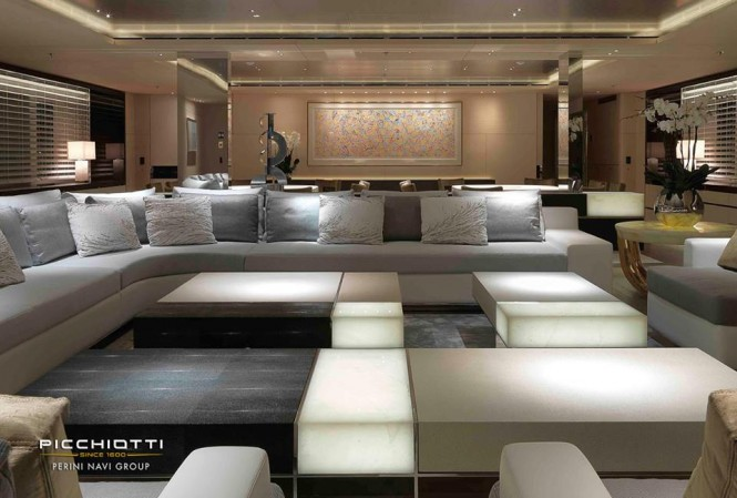 Grace E superyacht - Main Saloon - Photo by Giuliano Sargentini