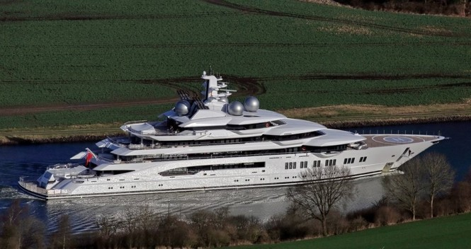 Lurssen delivers Project Mistral. Photo courtesy of Carl Groll/Lurssen Yachts