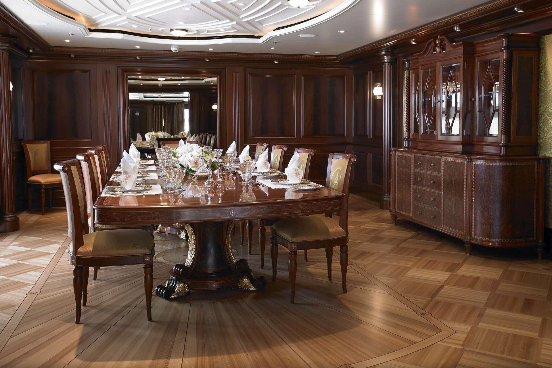 Luxury Dining Room Luxury Yacht ANNA Formal Dining Room Photo Credit Feadship Luxury Yacht C