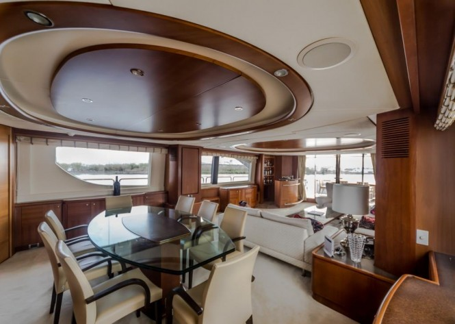 Luxury yacht ANTONIA II - Formal dining and salon