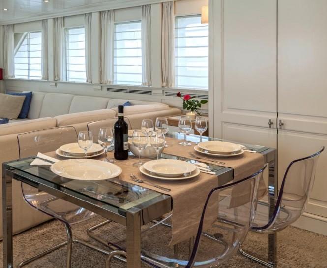 Luxury yacht HARMONYA - Formal dining