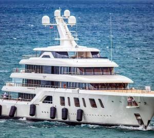 Feadship 92m Mega Yacht Aquarius Available for Charter