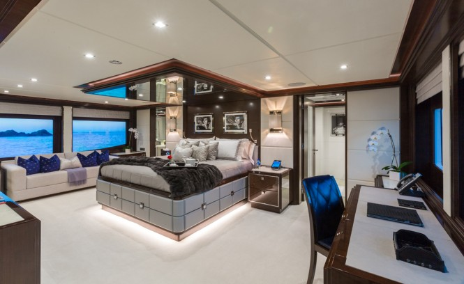 M/Y KING BABY - Master suite located on the main deck