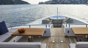 Foredeck with seating and Jacuzzi aboard luxury yacht TAKARA