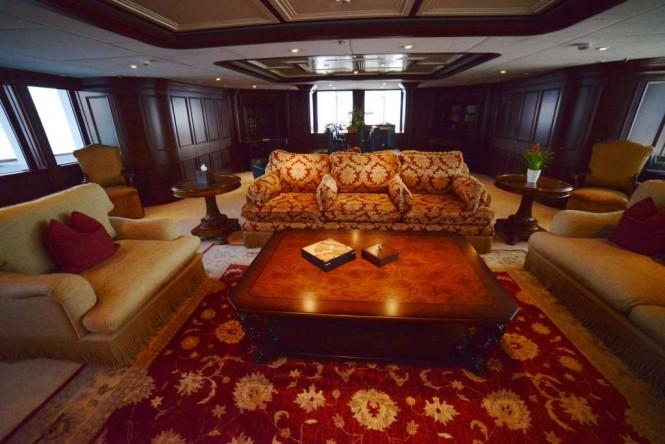 Main salon aboard M/Y NOMAD