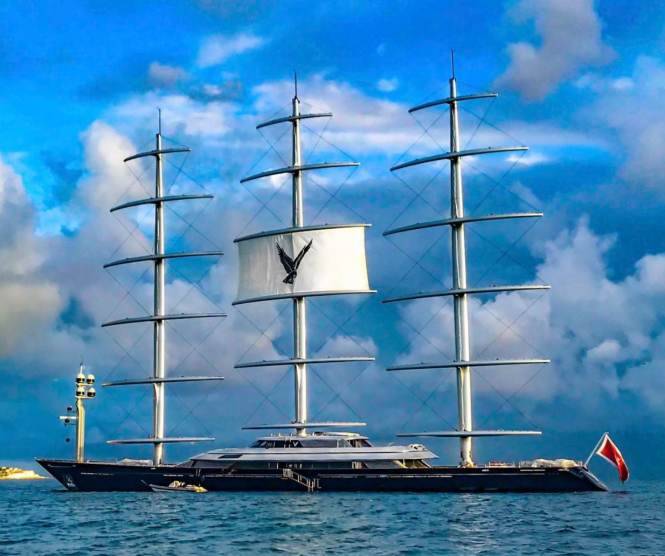Maltese Falcon spotted in St Maarten photo by @spjeweler