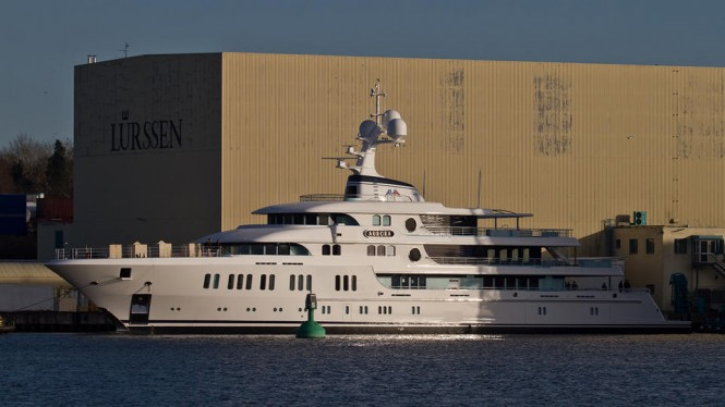 Motor Yacht Aurora (Project Thor) - Lurssen. Phot credit Andreas Jens:TheYachtPhoto.com