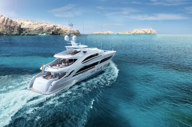 Motor Yacht Maia unveiled at Heesen Yachts