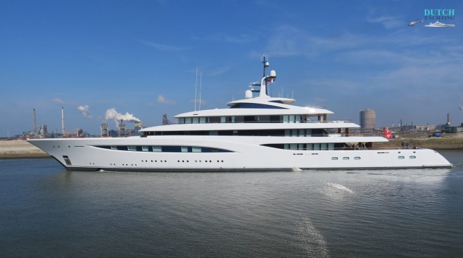 Motor Yacht Vertigo - side view Photo credit DutchYachting