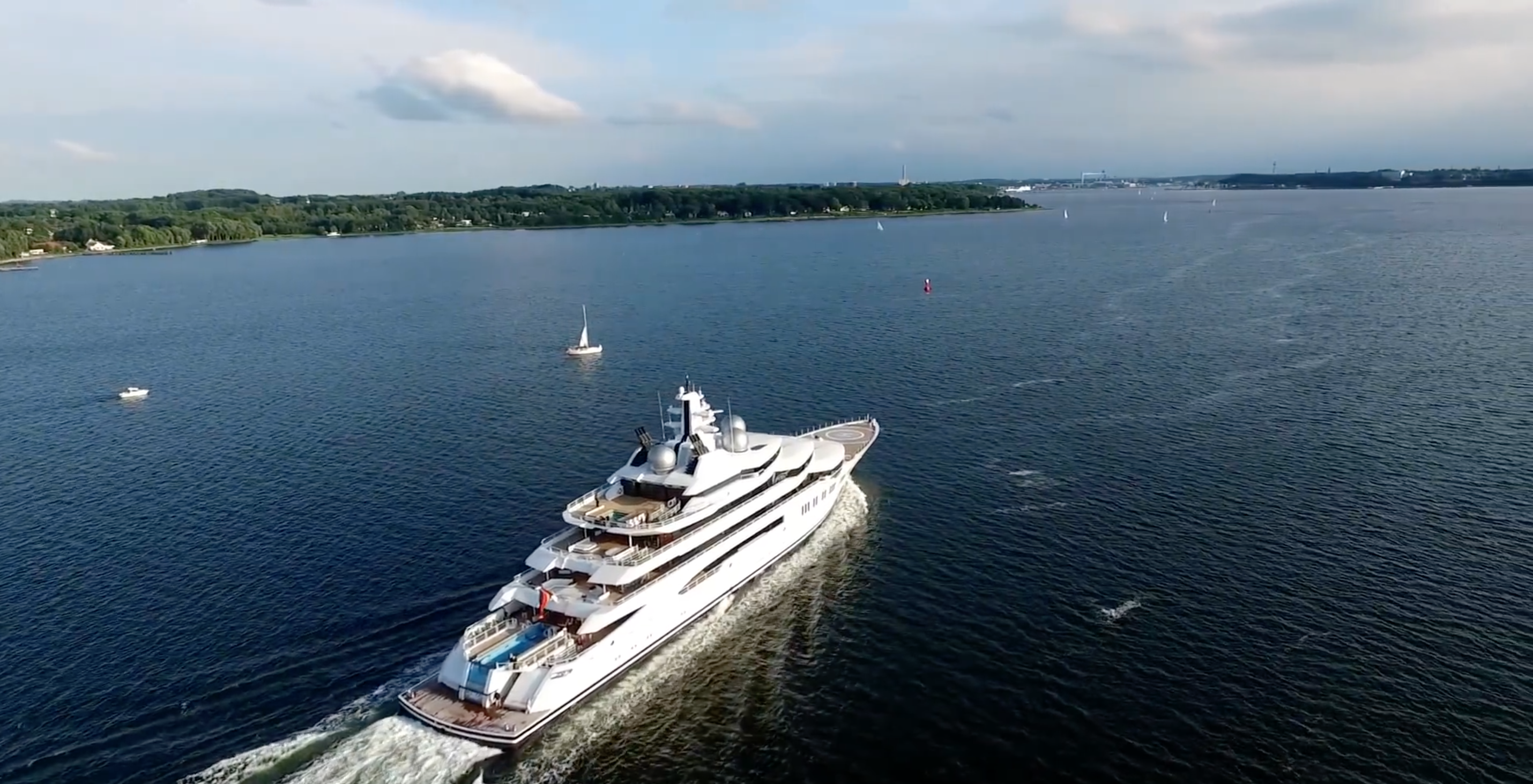 Motor yacht Amadea - drone footage. Photo credit AS-Flycam-Kiel.de