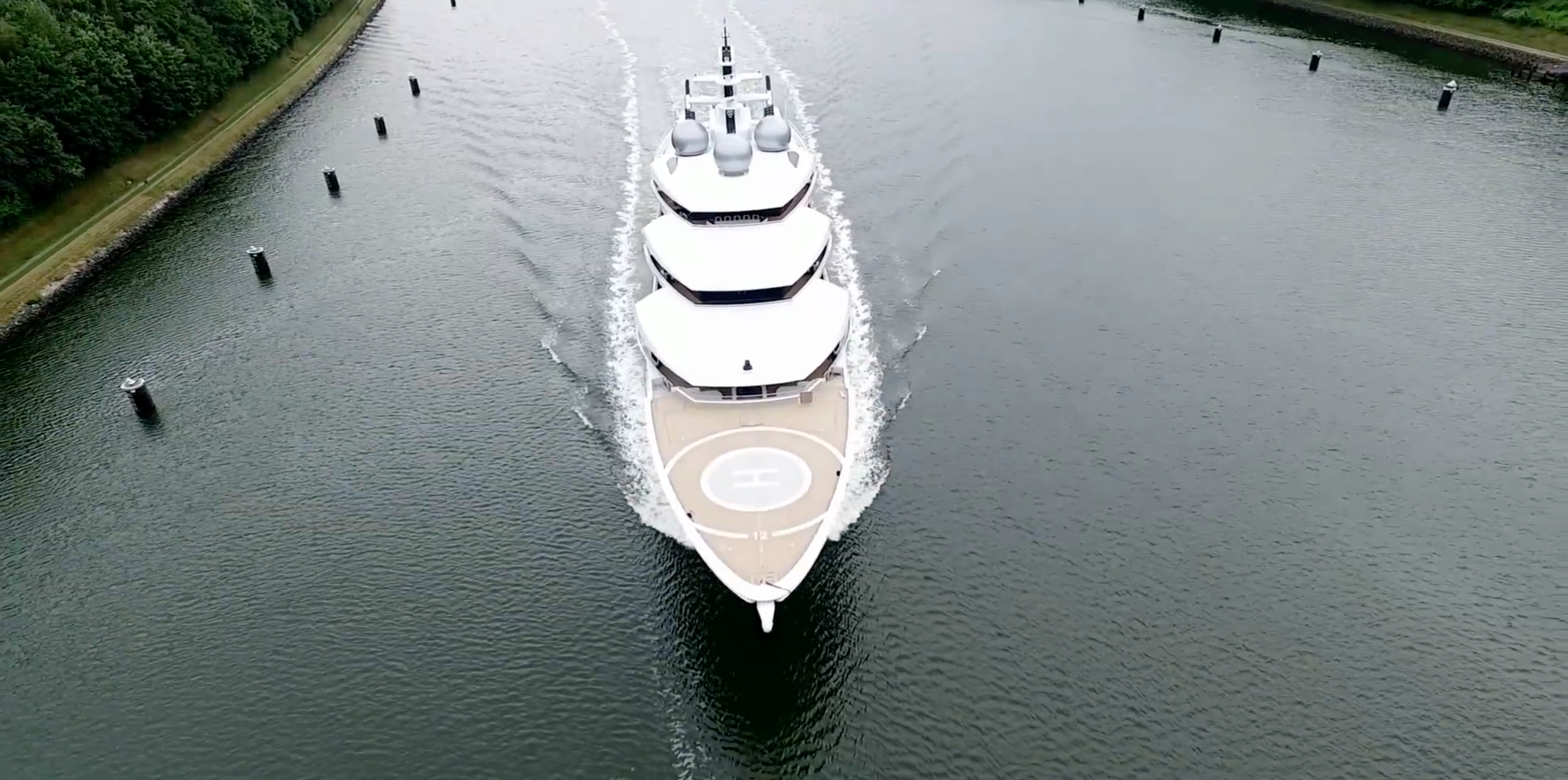 Motor yacht Amadea (ex Project Mistral). Photo credit AS-Flycam-Kiel.de:Andreas Schuster