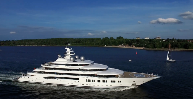 Motor yacht Amadea (ex. project Mistral). Photo credit AS-Flycam-Kiel.de