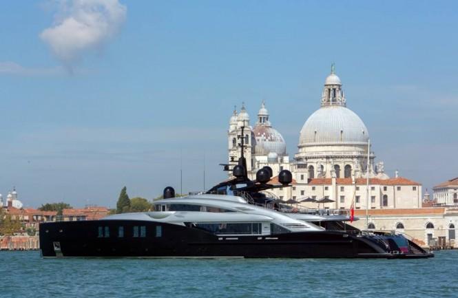 Okto in Venice. Photo courtesy of ISA Yachts