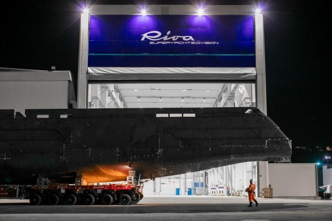 Riva 50m superyacht under construction