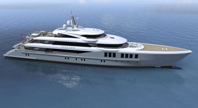Superyacht Spectre is currently under construction at Benetti Shipyard