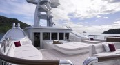 Sun deck aboard ANNA - Photo credit Feadship