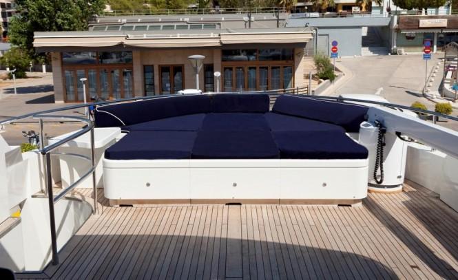 Sundeck sunpads aboard M/Y HARMONYA