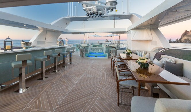 Superyacht KING BABY - Sundeck view to Jacuzzi
