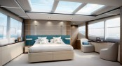 Superyacht KOHUBA - Master suite Image courtesy of Princess Yachts
