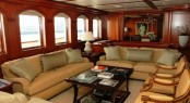 The main salon aboard luxury yacht ATHENA