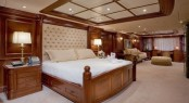 The spacious Master suite aboard luxury yacht NOMAD