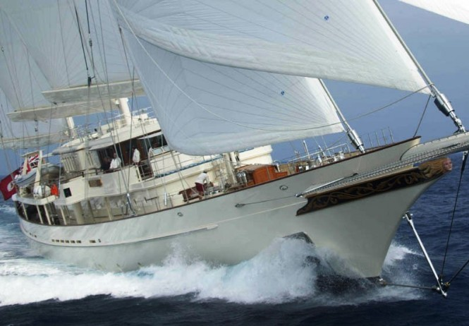 The stunning 90 m charter yacht Athena