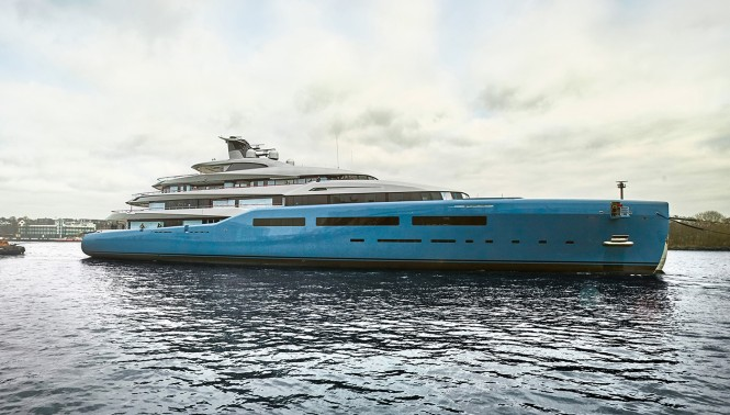 The 98 meter yacht AVIVA