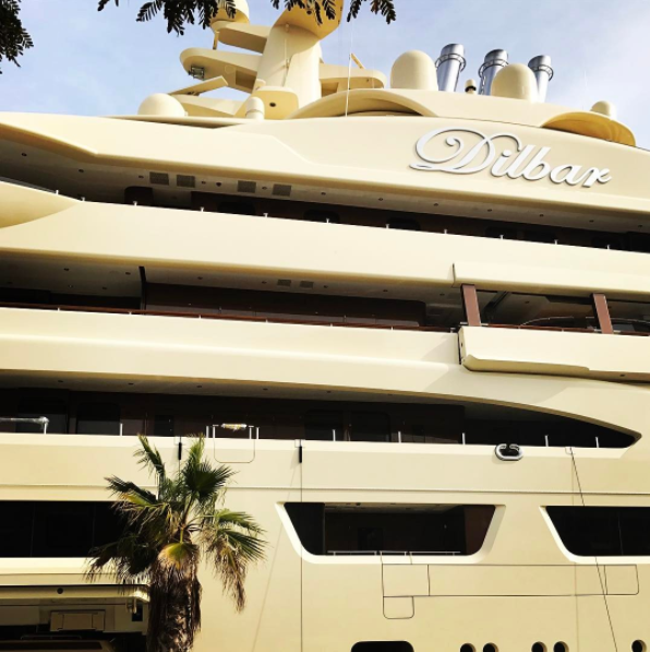 Dilbar - close -up - in Port Vell. Photo by @my.little.hygge