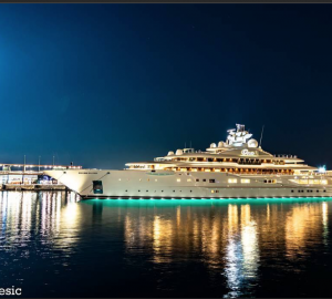 Mind-Blowing Photos of Mega Yachts Ona (ex. Dilbar) and Dilbar in Monaco