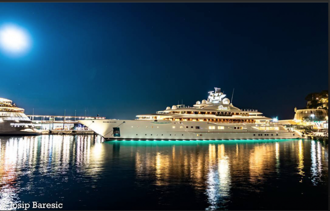 110m Ona (ex. Dilbar) in Monaco. Photo credit @j_b_photography__