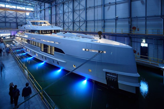 49.8m Project Nova launched and named HOME. Photo credit Dick Holthuis