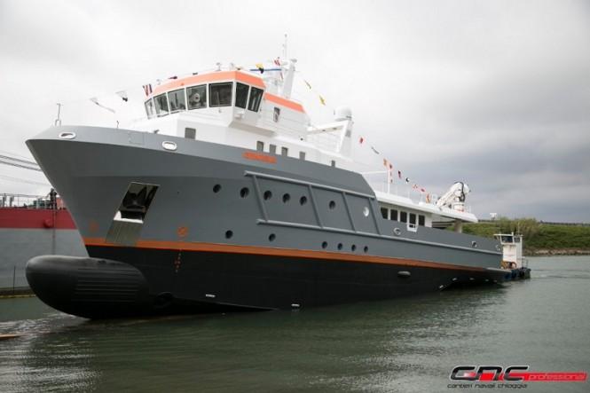 Cantieri Navali Chioggia launched the 40m explorer yacht Genesia