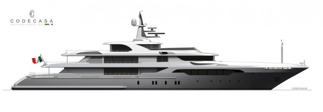 Codecasa Shipyards is building superyacht Codecasa 65 Hull F74