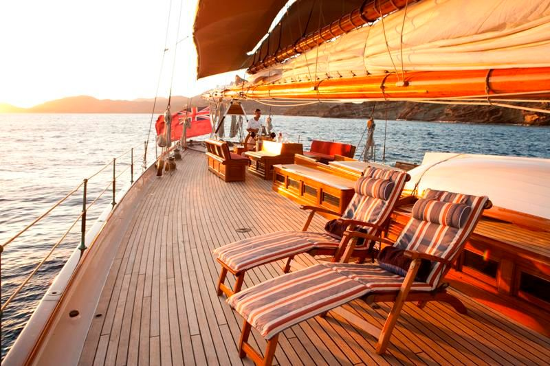 Complete relaxation aboard ELEONORA after a day of great sailing