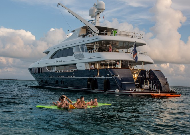 Endless fun with water toys aboard motor yacht NEVER ENOUGH