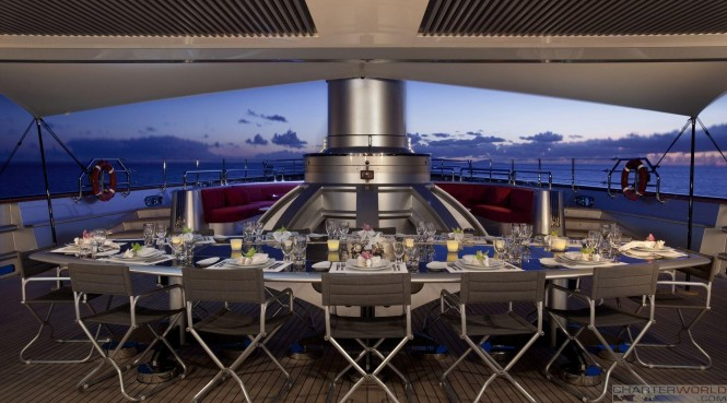 Great dining aboard Maltese Falcon