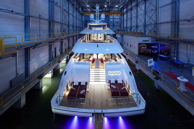 Launch of motor yacht HOME by Heesen. Photo credit Dick Holthuis