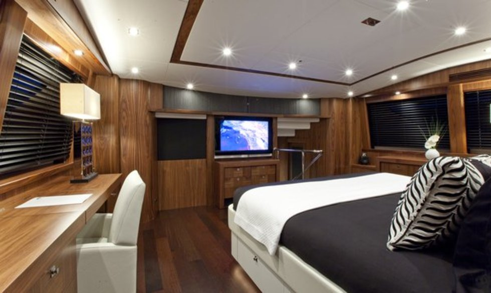 Luxury Yacht Black And White Master Suite Yacht Charter Superyacht News