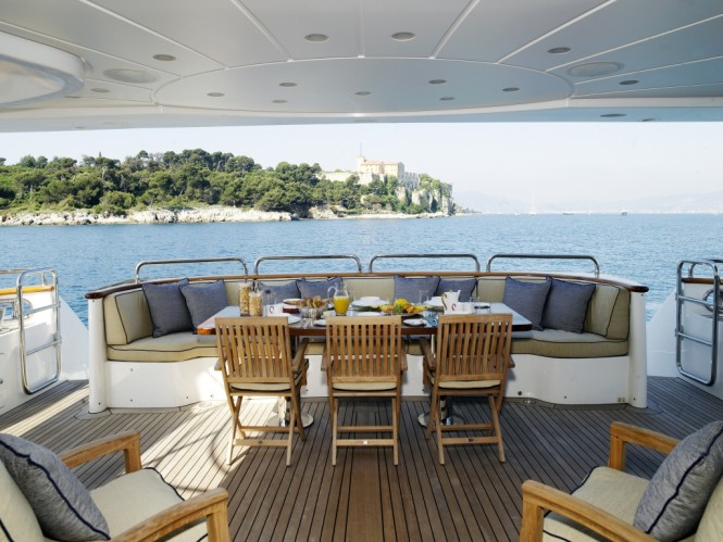 Luxury yacht RED ANCHOR - Main aft deck