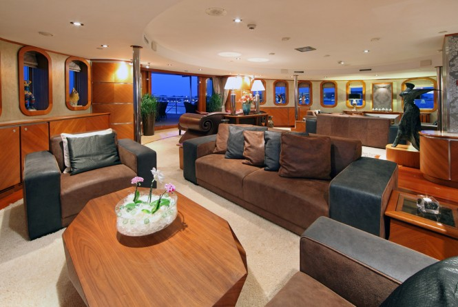 Luxury yacht SHERAKHAN - Main salon