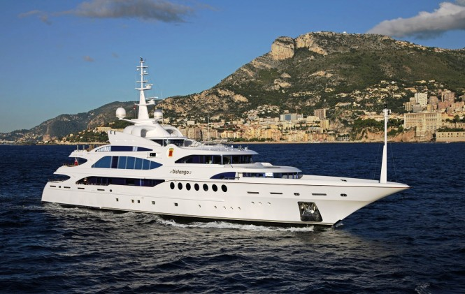 MINE GAMES (ex Bistango) superyacht under way