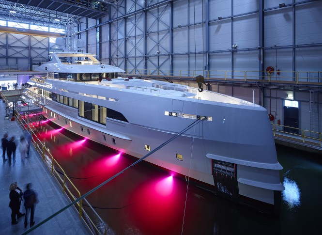 Heesen Yachts launched motor yacht Home. Photo credit Dick Holthuis
