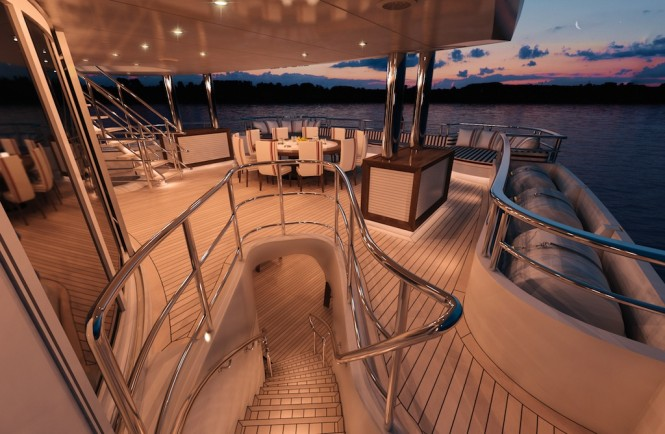 MegaYacht Axioma (ex. Red Square) Upper Deck - Image courtesy of Dunya Yachts