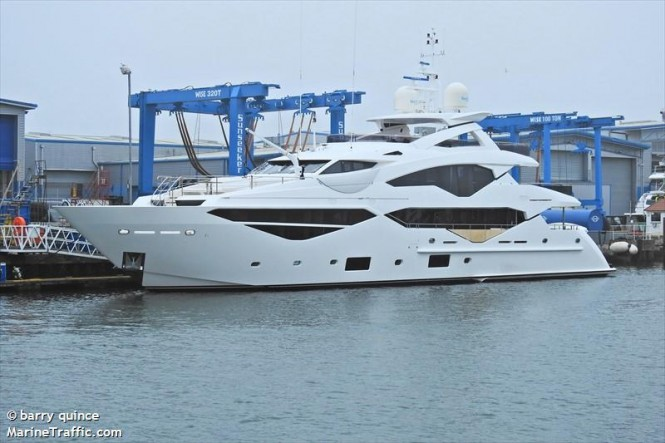 Motor yacht Aladdin - Sunseeker 131. photo credit Barry Quince