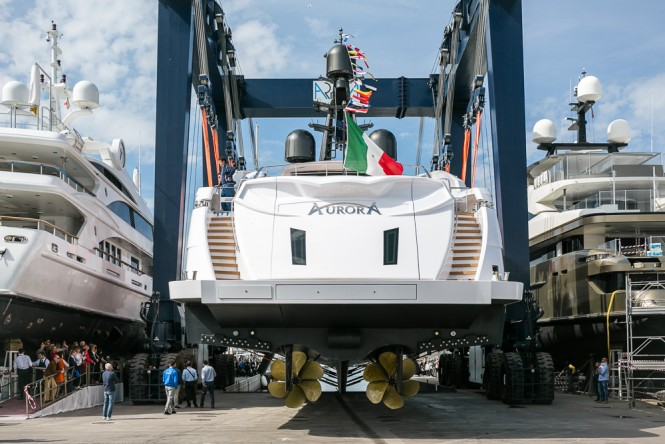 Motor yacht Aurora launched by Rossinavi