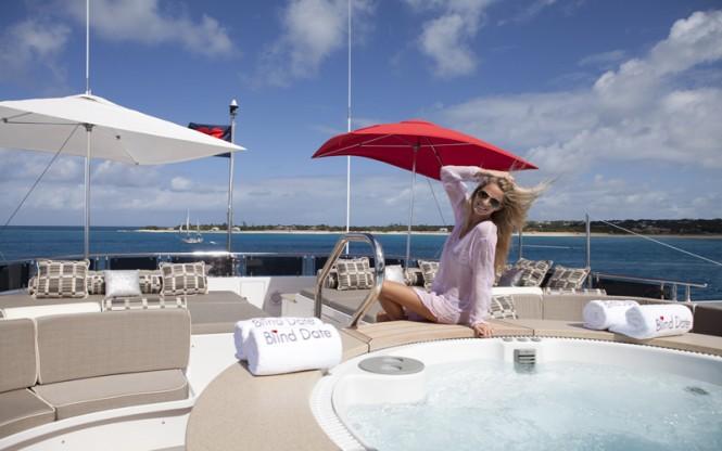 Motor yacht ROCKSTAR - Sundeck spa pool and sunpads
