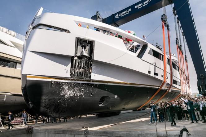Rossi Navi Launches motor yacht Aurora