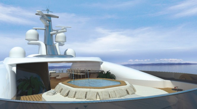 Sundeck concept for superyacht HERE COMES THE SUN